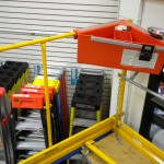- Use on scaffolding where a safety rail system is in use